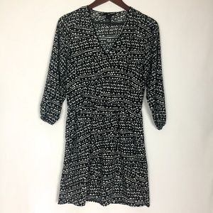 H & M   Size 8 Black and White Heart Dress